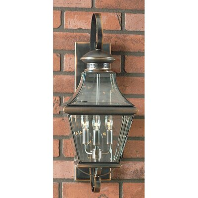 Quoizel Carleton 3 Light Wall Lantern