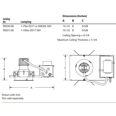 "Progress Lighting HID Pro-Optic 6"" Recessed Housing"