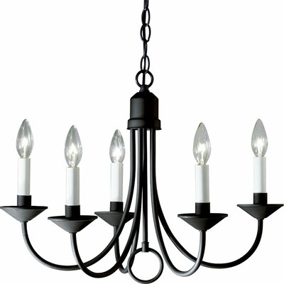 Brushed Nickel Light 5 Light Candle Light Chandelier Product Photo