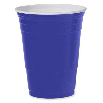 Solo Cups (50 per Carton) 16 oz Plastic Party Cups in Blue