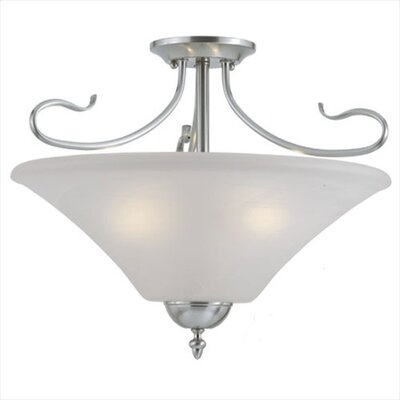Thomas Lighting Elipse 3 Light Convertible Pendant or Semi Flush