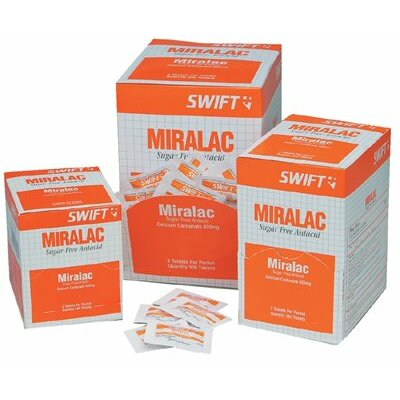 Swift First Aid Miralac Antacids - miralac 250/bx