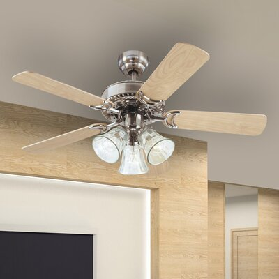 "42"" Newtown 5 Reversible Blade Ceiling Fan Product Photo"