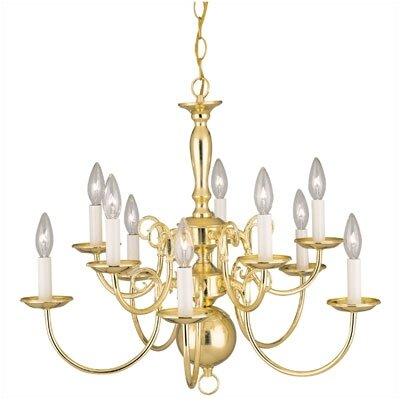 Williamsburg Style 10 Light Chandelier by Westinghouse Lighting