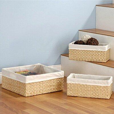 OIA 3 Piece Seagrass Storage Basket Set