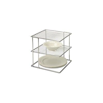 2 Tier Wire Cabinet Corner Shelf by OIA