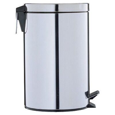 Stainless Step-Ons 3.13-Gal Round Trash Can by OIA