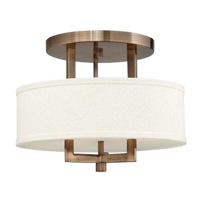Hampton 3 Light Semi Flush Mount Product Photo