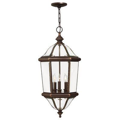 Hinkley Lighting Augusta 3 Light Outdoor Hanging Lantern