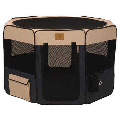 Soft Sided Pet Pen With Carrying Case and Removeable Bottom