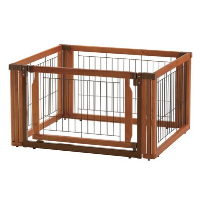 Convertible Elite 4-Panel Pet Gate by Richell
