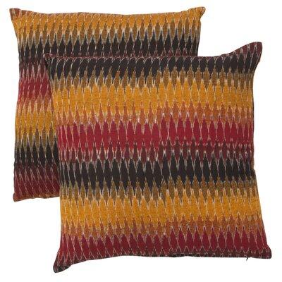 Rainbow Cascade Cotton Throw Pillow by Safavieh