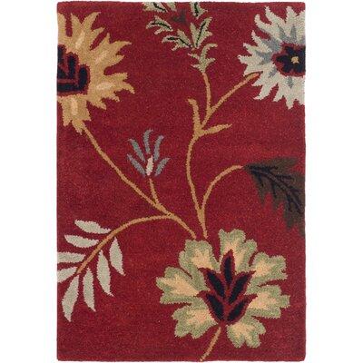 Jardin Red/Multi Floral Rug by Safavieh