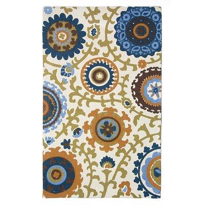 Cedar Brook Ivory / Blue Floral Rug by Safavieh