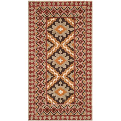 Safavieh Veranda Red & Natural Outdoor Indoor Area Rug
