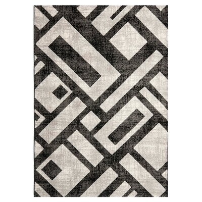 Porcello Black / Gray Area Rug by Safavieh