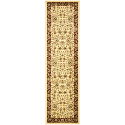 Lyndhurst Cream/Red Area Rug by Safavieh
