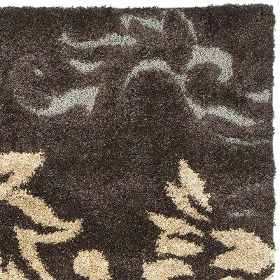 Safavieh Florida Shag Dark Brown/Smoke Area Rug