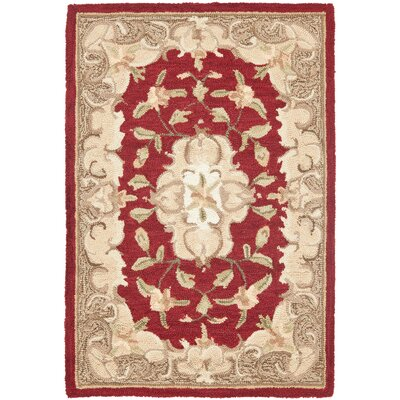 DuraArea Rug Red/Sage Area Rug by Safavieh