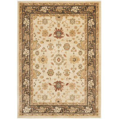 Heirloom Creme/Brown Floral Area Rug by Safavieh