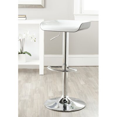 Rameka Adjustable Height Swivel Bar Stool with Cushion by Safavieh