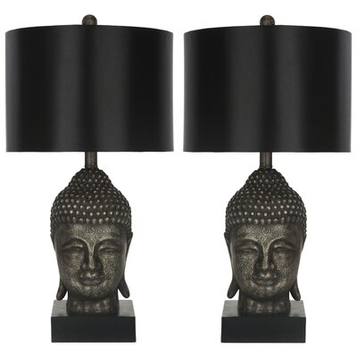 "Safavieh Buddha 24.5"" H Table Lamp with Drum Shade"