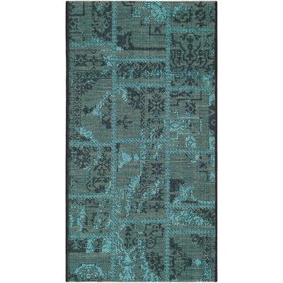 Safavieh Palazzo Black/Turquoise Velvety Area Rug