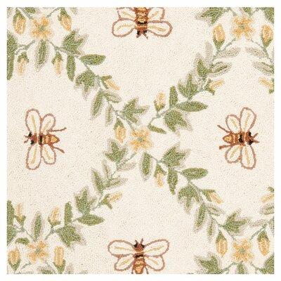 Safavieh Chelsea Ivory / Green Bumblebee Area Rug