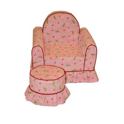 Fun Furnishings Vanity Chair and Ottoman Set