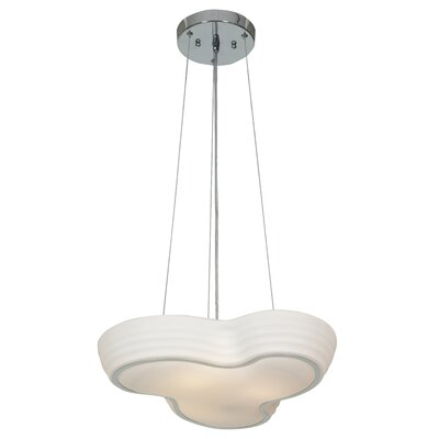 Pebble 3 Light Schoolhouse Pendant by Access Lighting