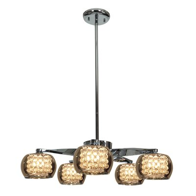Glam 5 Light Chandelier Product Photo