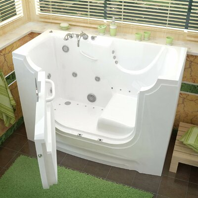 "HandiTub 60"" x 30"" Whirlpool & Air Jetted Wheelchair Accessible Bathtub Product Photo"