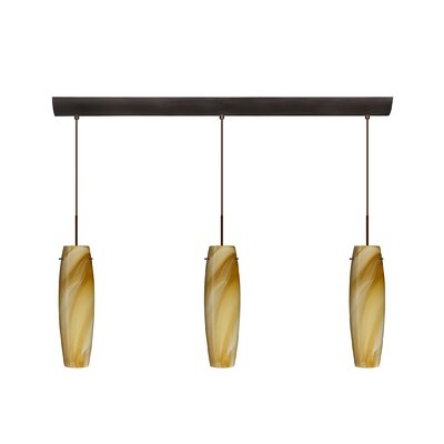 Besa Lighting Tutu 3 Light Pendant with Bar Canopy