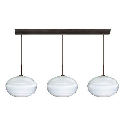 Pape 3 Light Globe Pendant by Besa Lighting
