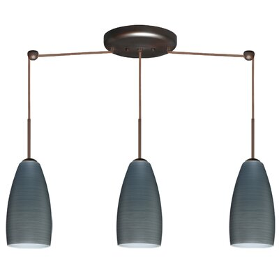 Besa Lighting Chrissy 3 Light Linear Pendant