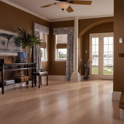 "Mohawk Flooring Elements 8"" x 47"" x 7mm Maple Laminate in Northern Maple"
