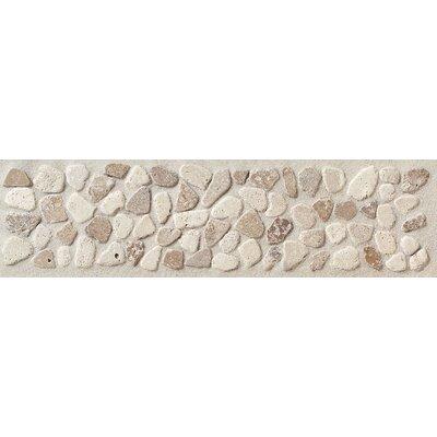 "Mohawk Flooring Artistic Accent Statements 12"" x 3"" Pebble Decorative Border in Baja Cream/Walnut"