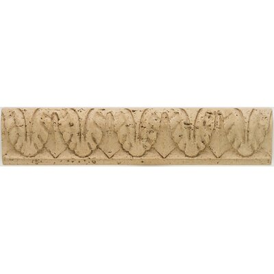 """Mohawk Flooring Artistic Accent Statements 10"""" x 2"""" Vertical Leaves Accent Strip in Travertine"""