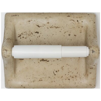 Mohawk Flooring Classic Wall Mounted Travertine Resin Toilet Paper Holder with Plastic Roller