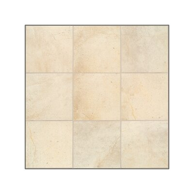 "Mohawk Flooring Sardara 12"" x 12"" Porcelain Field Tile in Fortress Cream"