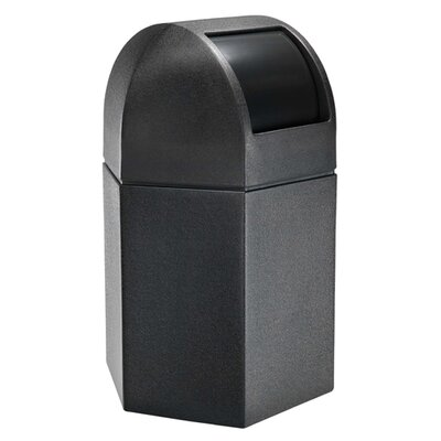 Commercial Zone PolyTec 45-Gal Hex Waste Container with Dome Lid
