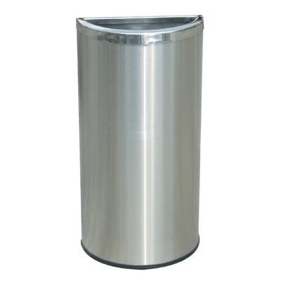 Commercial Zone Precision Series 8-Gal Half Moon Trash Can