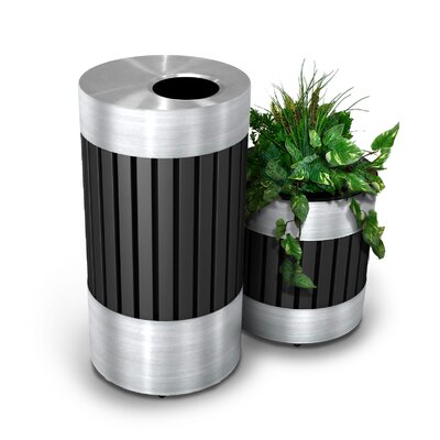 Commercial Zone Riverview Series 25-Gal Trash Receptacle