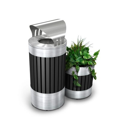 Commercial Zone Riverview Series 15-Gal Canopy Top Trash Receptacle