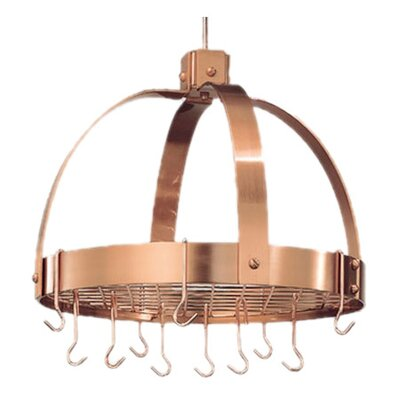 Old Dutch International Dome Decor Pot Rack with Grid and Hooks