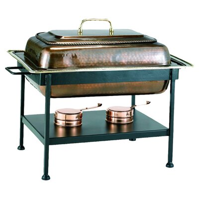 Rectangular Antique Copper Chafing Dish by Old Dutch