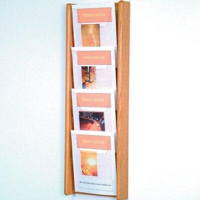 Wooden Mallet 4 Pocket Wall Display