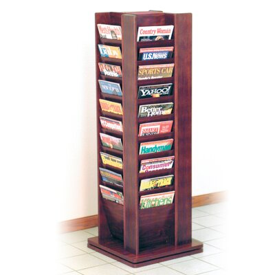 Wooden Mallet 40 Pocket Magazine Rotary Floor Display
