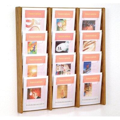 Wooden Mallet 12 Pocket Wall Display
