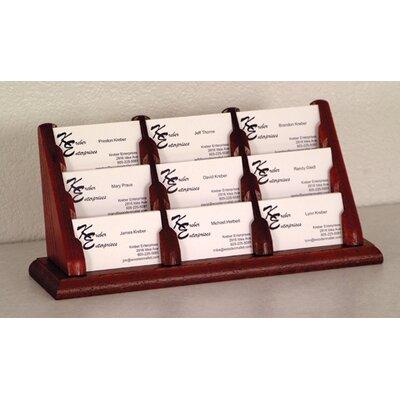Wooden Mallet Nine Pocket Counter Top Business Card Holder